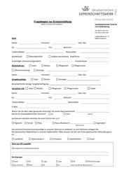 Formular zur Erstanmeldung beim SPZ